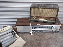 Two Vintage Radios 7 Inches high x 24 Inches Wide