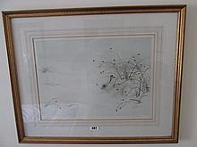 Dane Neville Gilt Framed Lithograph Arctic Rabbit