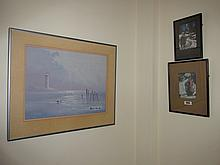 Two Framed Antique Woodcuts by Mac of Winter