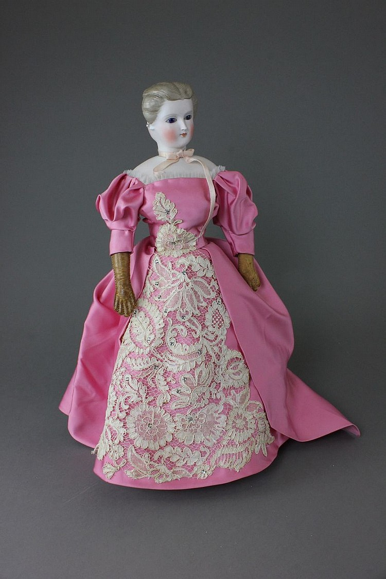 16'' PARIAN TYPE TWO-FACED LADY DOLL
