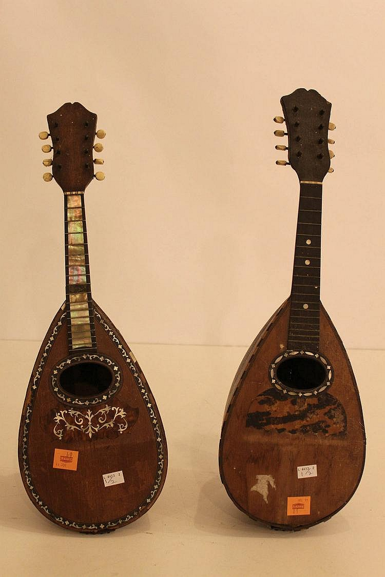 An old inlaid mandolin, by Stridente of Napoli;