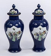 A PAIR OF LATE 19TH CENTURY SAMSON POWDER BLUE AND