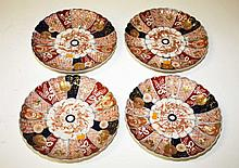 A SET OF FOUR ATTRACTIVE JAPANESE IMARI DISHES,