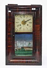 AN AMERICAN MAHOGANY CASED WALL CLOCK, late 19th