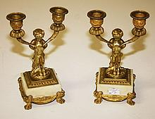 AN ATTRACTIVE PAIR OF FRENCH GILT BRASS