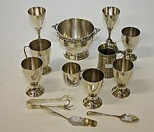 A COLLECTION OF MISCELLANEOUS SILVER PLATE WARE,