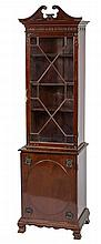 AN UNUSUAL MAHOGANY BOOKCASE, early 20th century,