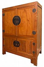 AN UNUSUAL CHINESE CAMPHOR WOOD CUPBOARD, the