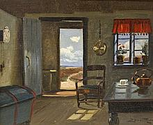 EDMUND FISCHER (D. 1944), Attractive Seaside