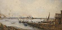 THOMAS BUSH HARDY (1842-1897), Busy Harbour Scene