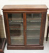 A MAHOGANY BOOKCASE, early 20th century, with two