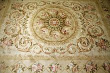 A MODERN CHINESE SAVONERIE HANDMADE CARPET, with