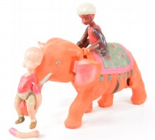 Henry Riding Celluloid Nodder Elephant