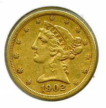 1902-S $5.00 Gold Liberty Head
