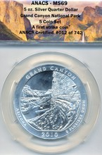 2010 5oz 999 Silver Grand Canyon State Quarter