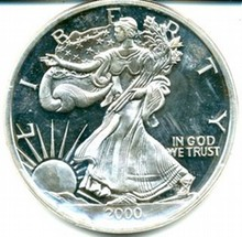 2000 American Silver Eagle Bullion Coin