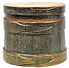Painted Lidded Bucket