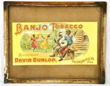 Banjo Tobacco Caddy Label