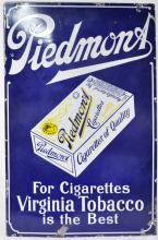 Porcelain Piedmont Cigarettes Sign