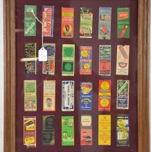 Collection of Framed Matchbook Covers