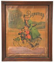 Our Little Beauties Pressed framed cigarette poster