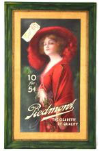 Rare Lady in Red Dress Piedmont Cigarettes Poster