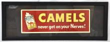 Camel Never Gets on Your Nerves framed poster