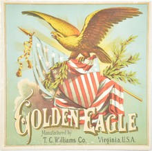Golden Eagle Caddy Label