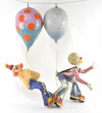 Mexican Papier Mache Clowns