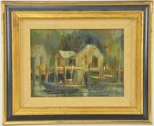 Lola Burns Wharf Painting