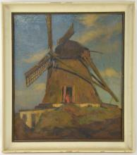 Soren Josva Christensen Windmill Painting