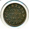 1887, Canada, 1 Cent