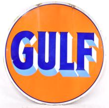 Rare Gulf Porcelain Sign