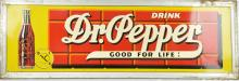 Dr. Pepper Good For Life! Tin Litho Sign