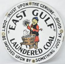 Rare East Gulf Laundered Coal Porcelain Sign