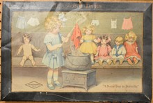 Diamond Dyes Tin Litho Doll Sign