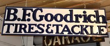 B.F. Goodrich Tires and Tackle Porcelain Die-Cut Letters
