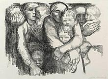KATHE KOLLWITZ (1867-1945, German) Mutter II (Mothers II) 1919