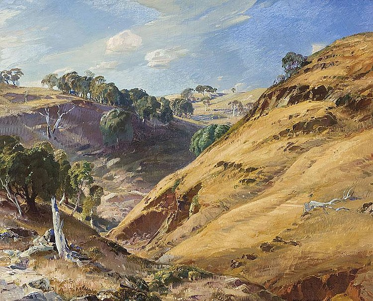 HANS HEYSEN (1877-1968)  The Hillside, Glen Osmond