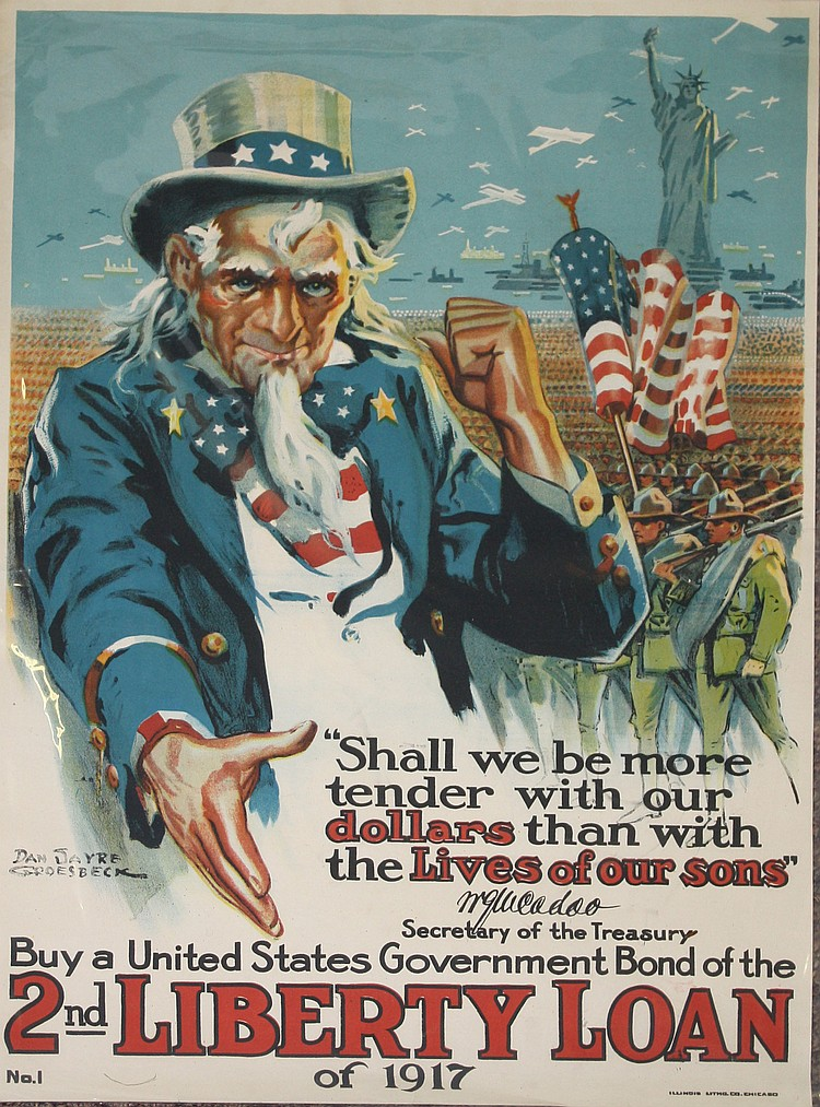 Dan Sayre Groesbeck Uncle Sam