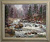 Thomas Curtin (VT 1899-1977) o/c Winter stream -