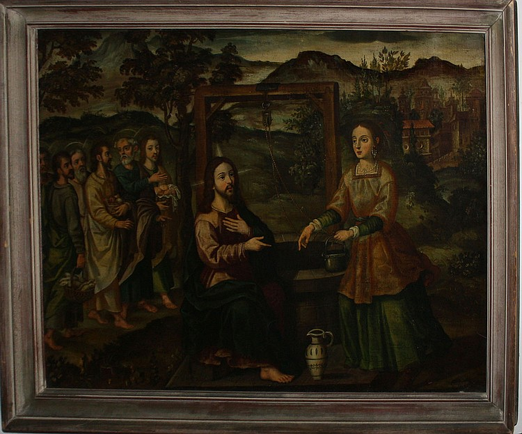 School of Francisca Herrera (1590-1655) oil on