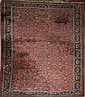 Persian all-over floral main carpet w/ elk head