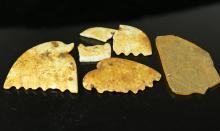 (4)  TWO PIECES OF CHINESE ANCIENT ANCIENT CARVED JADE INCLUDES JADE COMB, ETC.