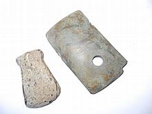 Two ancient Chinese stone axe heads, 3.5