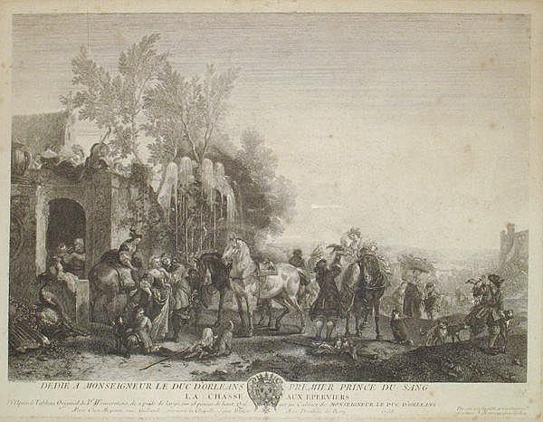Jean MOYREAU (1690-1762) d'après Philips WOUWERMANS.