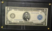 1914 Large Size $5.00 FRN
