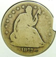 1877-CC Seated Liberty Half Dollar