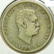 1883 Hawaiian Quarter