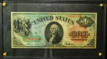 1891 Large Size $1.00 US Note (rainbow note)